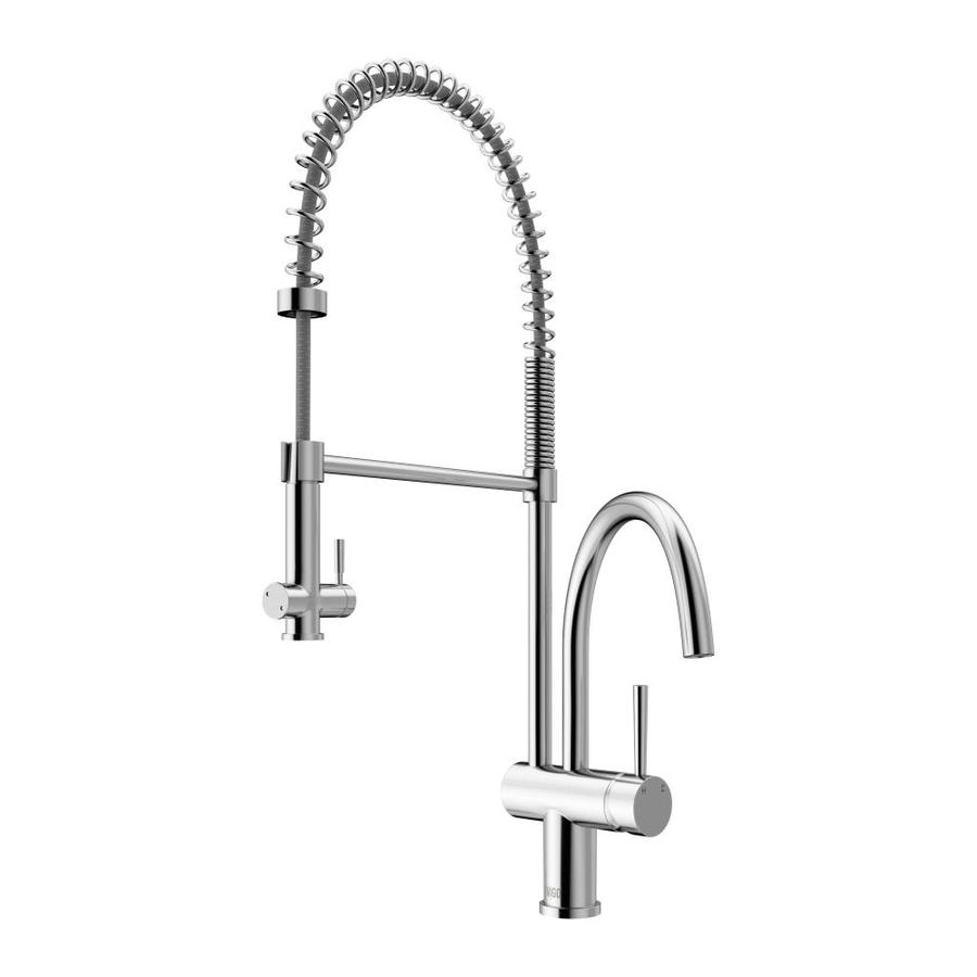 VIGO Dresden Chrome 2-Handle Deck Mount Pull-Down Kitchen Faucet