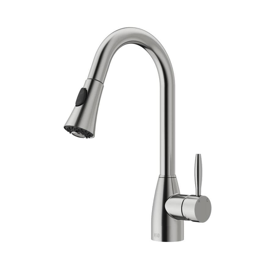 kitchen faucets stainless steel pull out shop vigo stainless steel 1 handle pull out kitchen faucet 24694