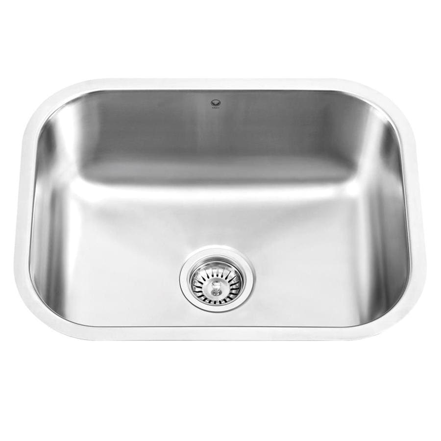 VIGO 23-in x 17.75-in Stainless Steel Single-Basin Stainless Steel Undermount Commercial/Residential Kitchen Sink