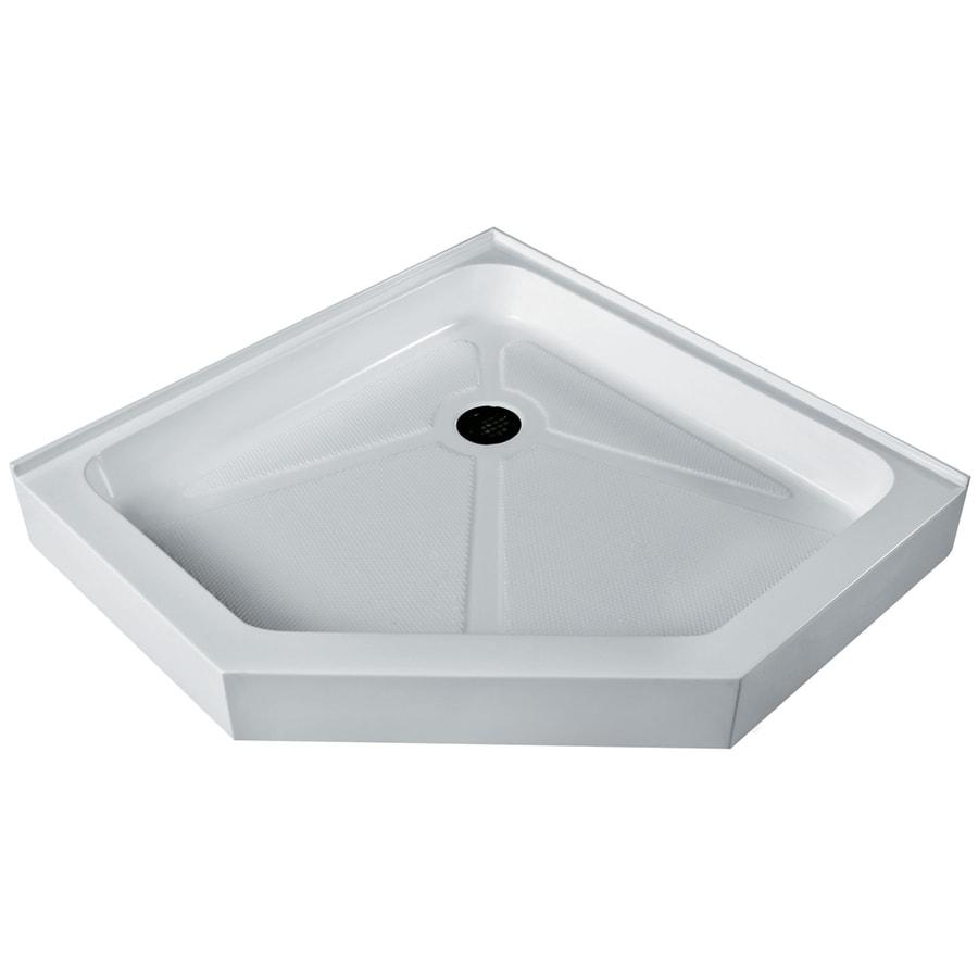 VIGO White Acrylic Shower Base (Common: 42-in W x 42-in L; Actual: 42.125-in W x 42.125-in L)