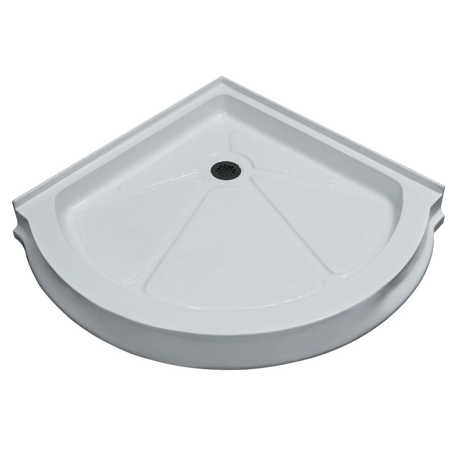 VIGO White Acrylic Shower Base (Common: 41-in W x 41-in L; Actual: 40.5-in W x 40.5-in L)