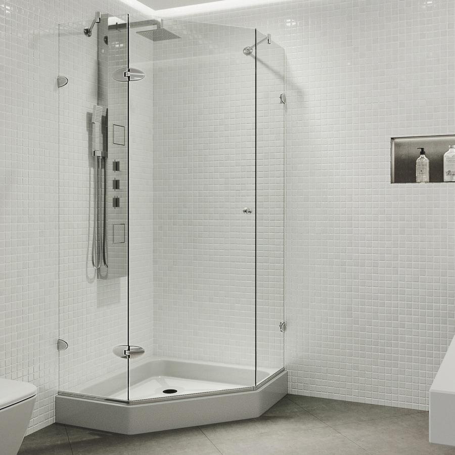 VIGO Verona Frameless Chrome Shower Door