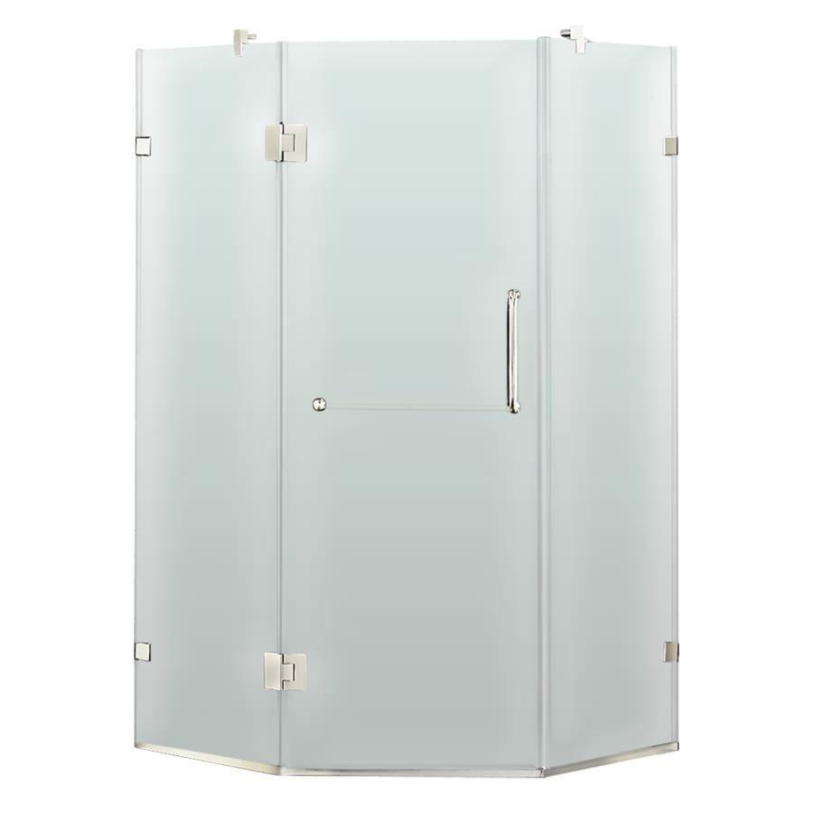 VIGO 34.125-in W x 73-3/8-in H Frameless Neo-Angle Shower Door