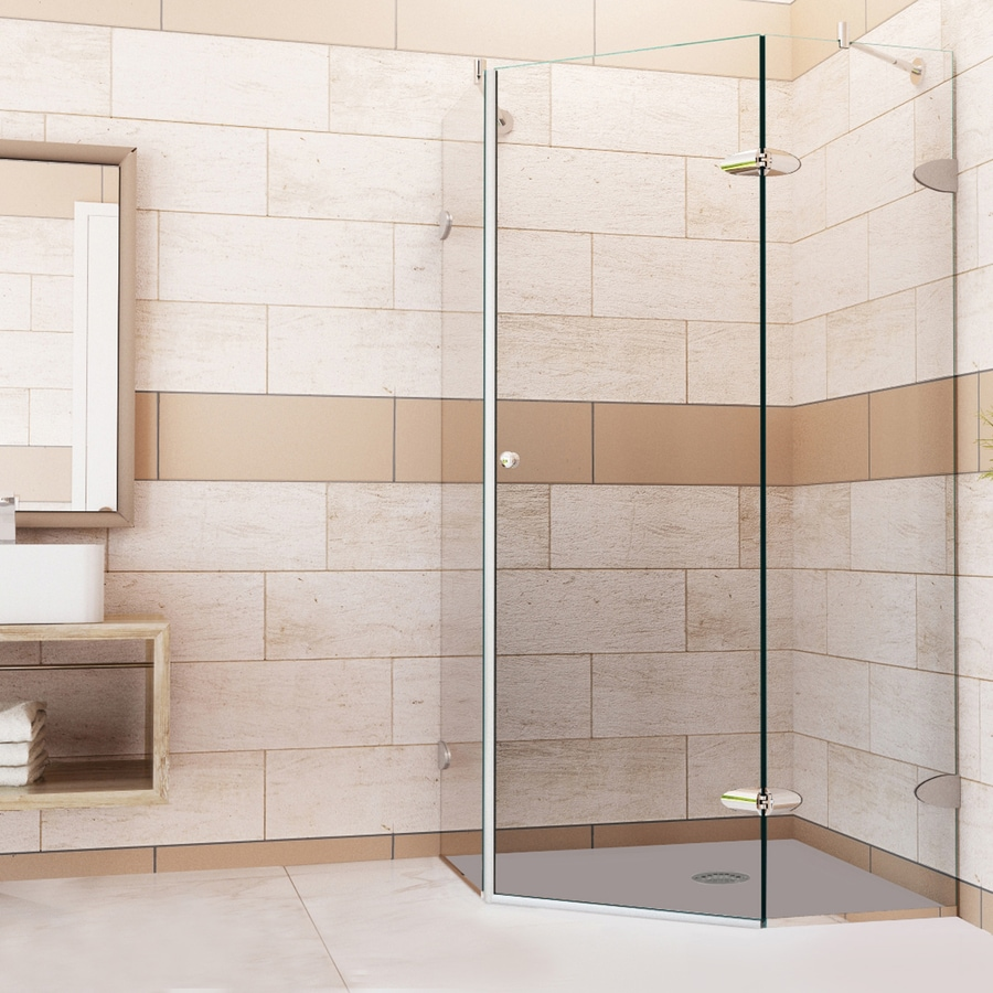 VIGO Vigo Neo-Angle Shower Enclosure 38.125-in W x 73-3/8-in H Frameless Neo-Angle Shower Door