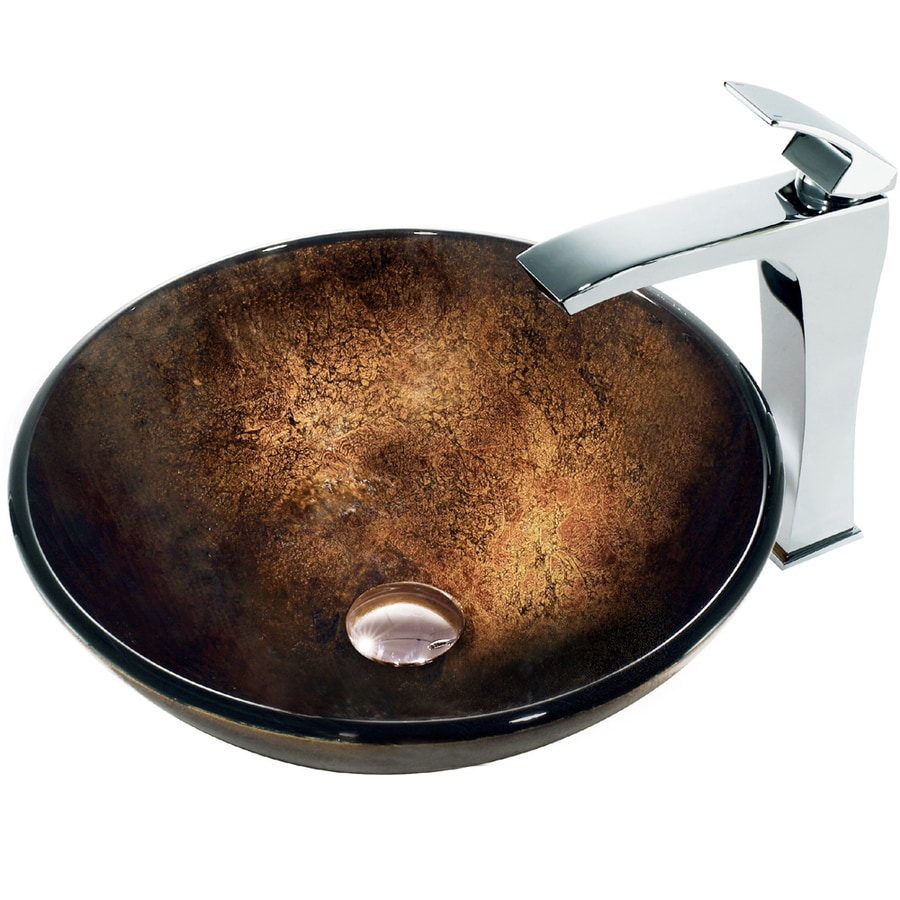 vigo bathroom sinks shop vigo glass sink bronze glass vessel bathroom sink 14952