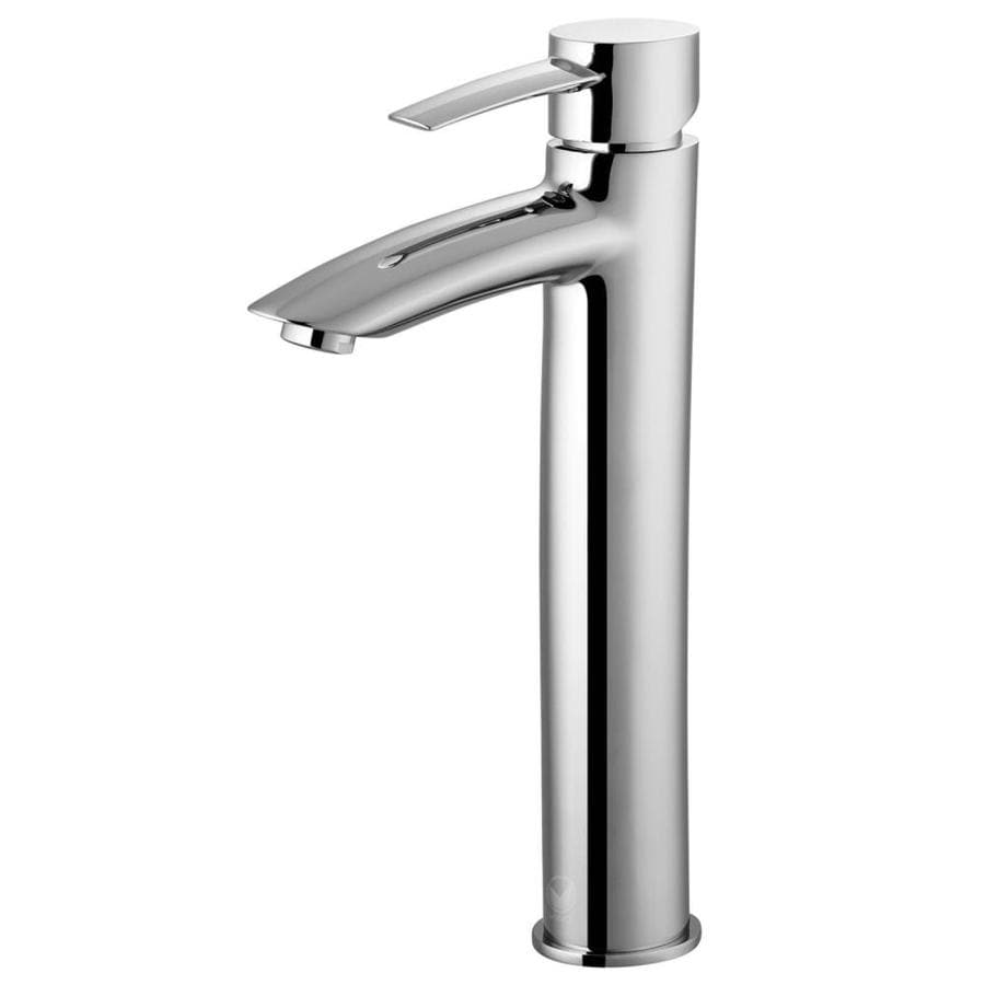 shop vigo shadow chrome 1 handle vessel watersense