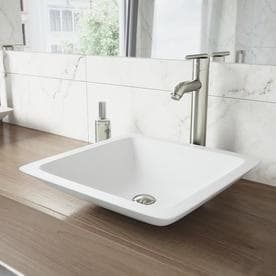VIGO Seville 1 Handle Vessel WaterSense Bathroom Faucet