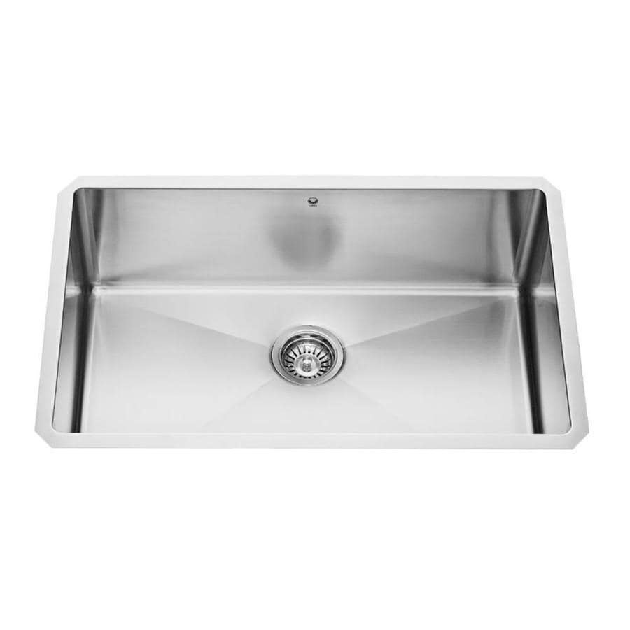 VIGO 30-in x 19-in Stainless Steel Single-Basin Stainless Steel Undermount Commercial/Residential Kitchen Sink