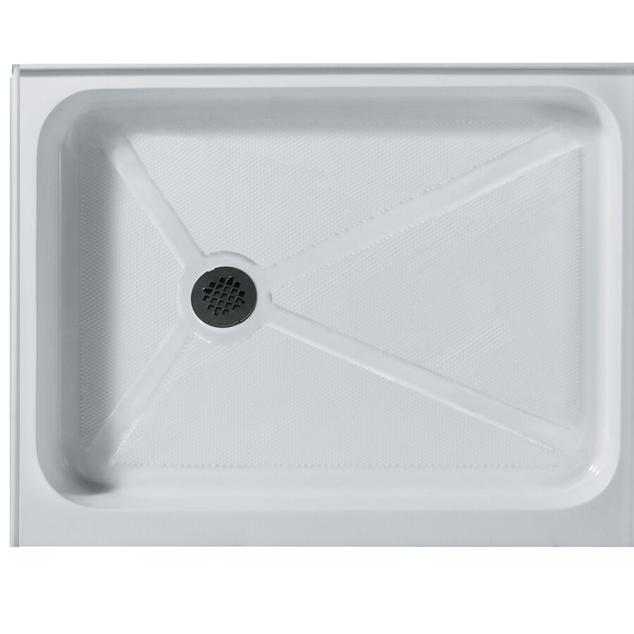 VIGO Shower Tray White Acrylic Shower Base (Common: 32-in W x 48-in L; Actual: 32.375-in W x 48.125-in L)