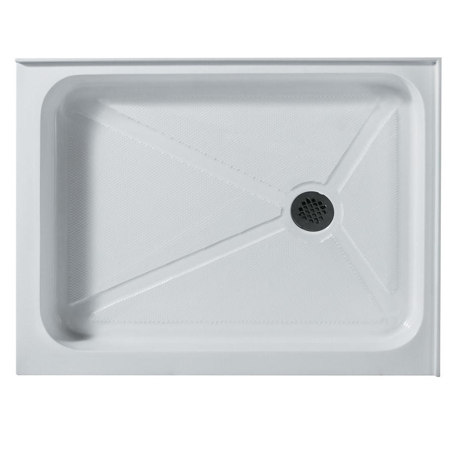 VIGO White Acrylic Shower Base (Common: 32-in W x 40-in L; Actual: 32.375-in W x 40.25-in L)
