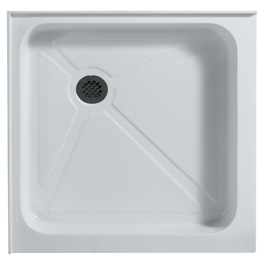 VIGO White Acrylic Shower Base (Common: 32-in W x 32-in L; Actual: 32.375-in W x 32.375-in L)
