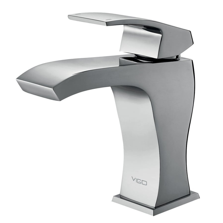 VIGO Chrome 1-Handle Single Hole WaterSense Bathroom Sink Faucet