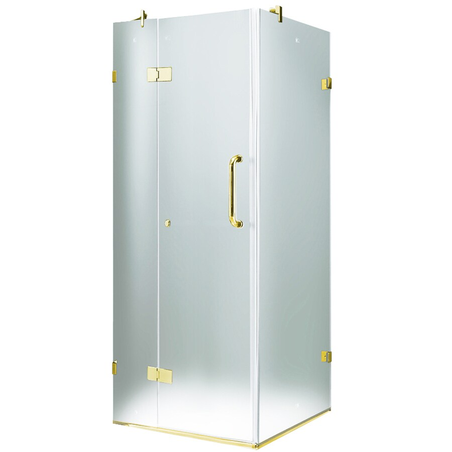 Shop VIGO 19-3/4-in Frameless Hinged Shower Door at Lowes.com