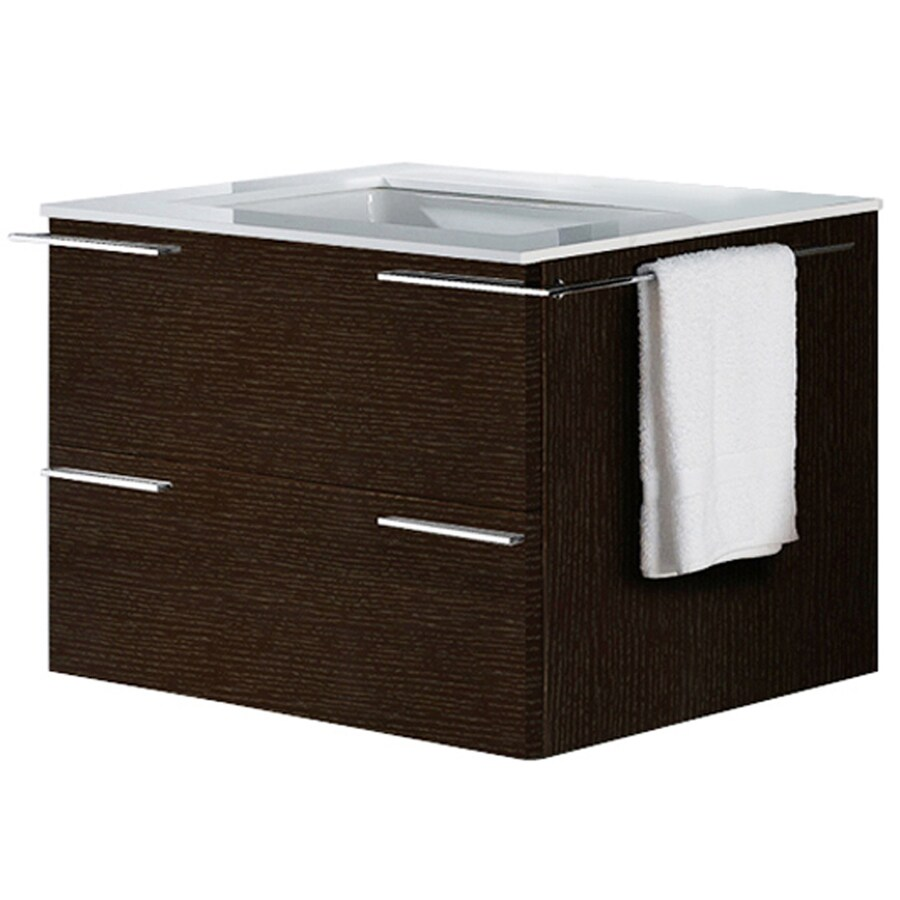 VIGO Wenge Integrated Single Sink Bathroom Vanity with Vitreous China Top (Common: 31-in x 23-in; Actual: 31.25-in x 22.875-in)