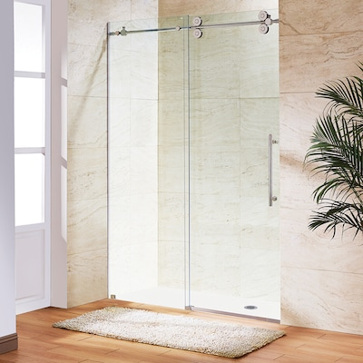Elan 68 In To 72 W Frameless Byp Sliding Stainless Steel Shower Door