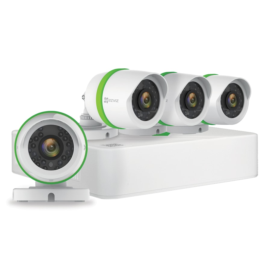 EZVIZ Smart Analog Wired Outdoor Security Camera Kit with Night Vision