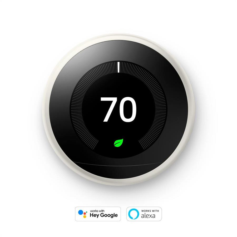 shop nest white learning 3rd generation thermostat with built in wifi at. Black Bedroom Furniture Sets. Home Design Ideas