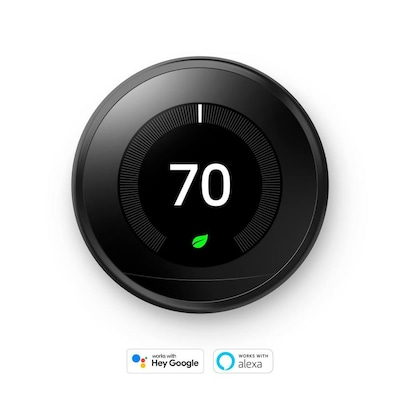 Google Learning Thermostat, 3rd Generation, Mirror Black
