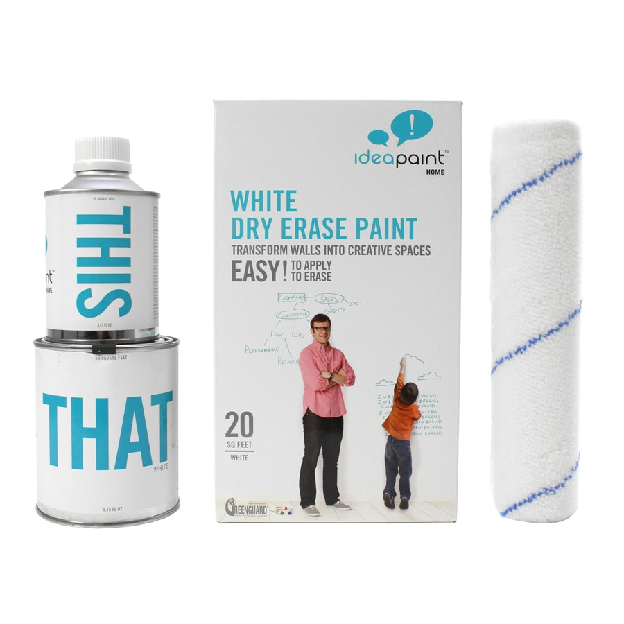 IdeaPaint 20-sq ft White Gloss Dry Erase Paint