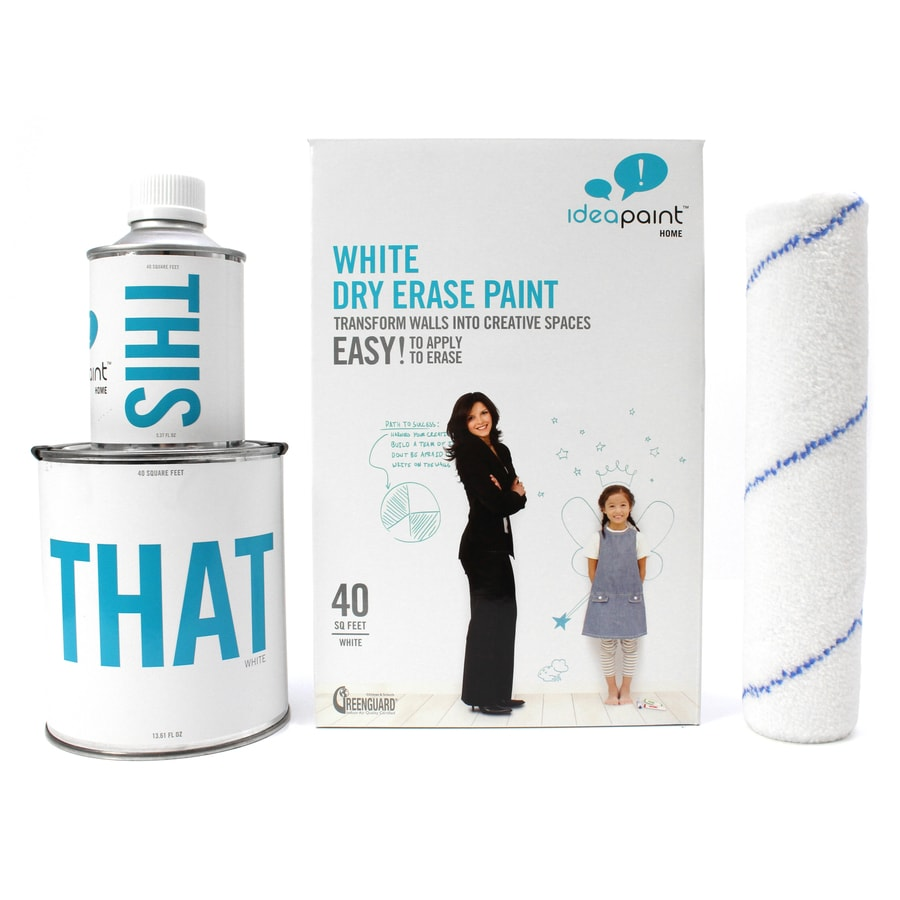 IdeaPaint 40-sq ft White Gloss Dry Erase Paint