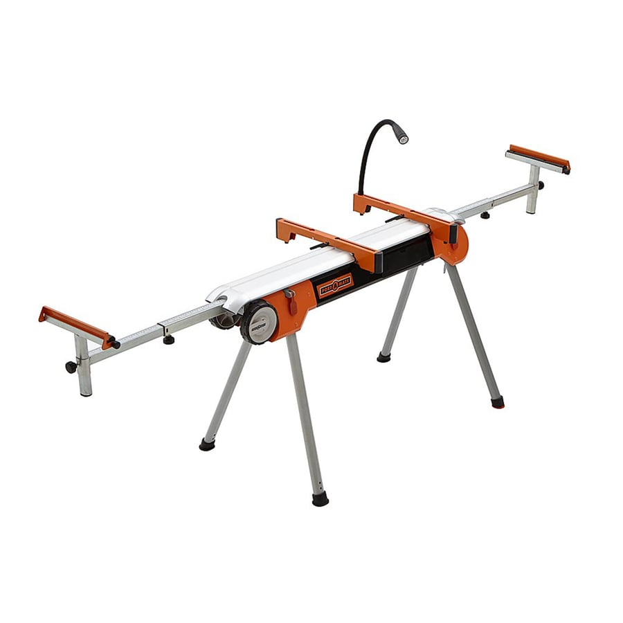 Shop portamate steel table saw stand at for Table saw lowes