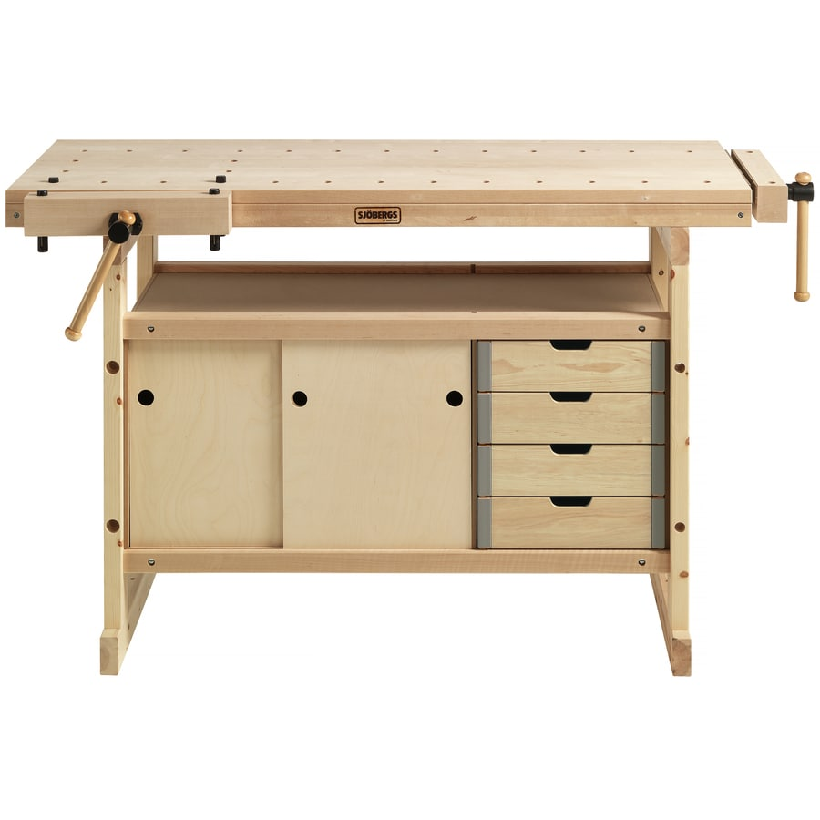 Sjobergs 19-in W x 32-in H 4-Drawer Wood Work Bench