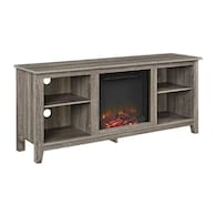 Deals on Walker Edison Driftwood Rectangular Fireplace