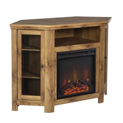 Walker Edison Barnwood Fireplace Tv Stand At Lowes Com