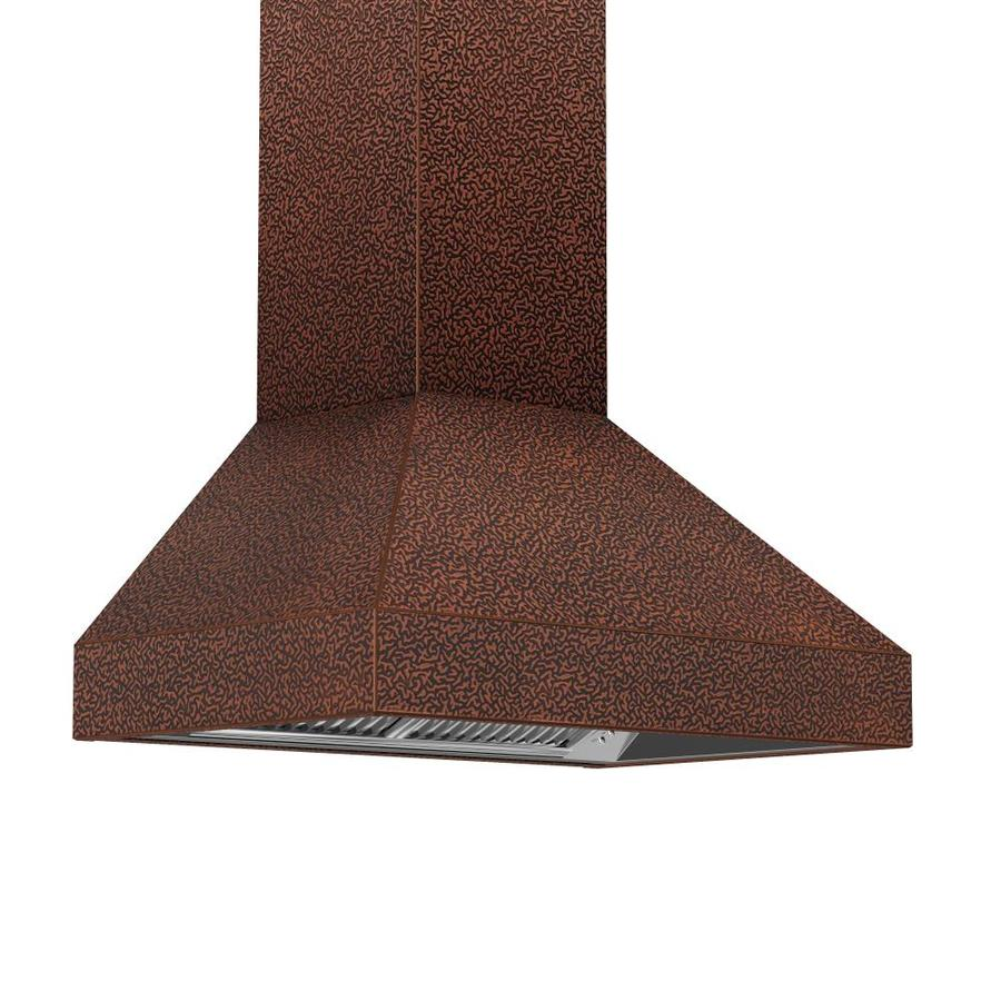 Zline Kitchen Bath Ducted Wall Mounted Range Hood Embossed Copper Actual