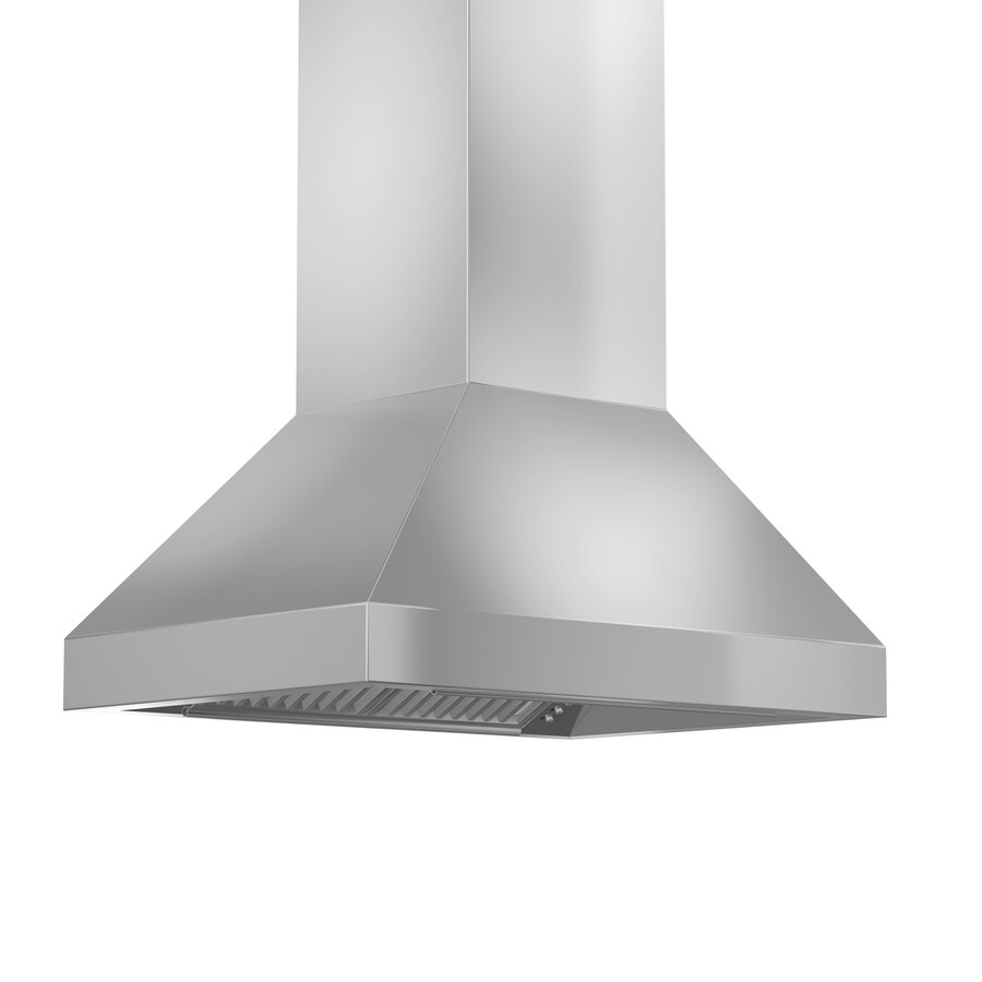 Zline Kitchen Bath 36 In Convertible Stainless Steel Island Range Hood In The Island Range Hoods Department At Lowes Com