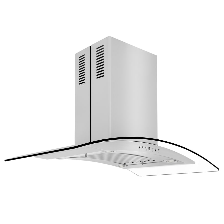 ZLINE KITCHEN & BATH Convertible Island Range Hood (Brushed 430 Stainless Steel) (Common: 36-in; Actual: 36-in)