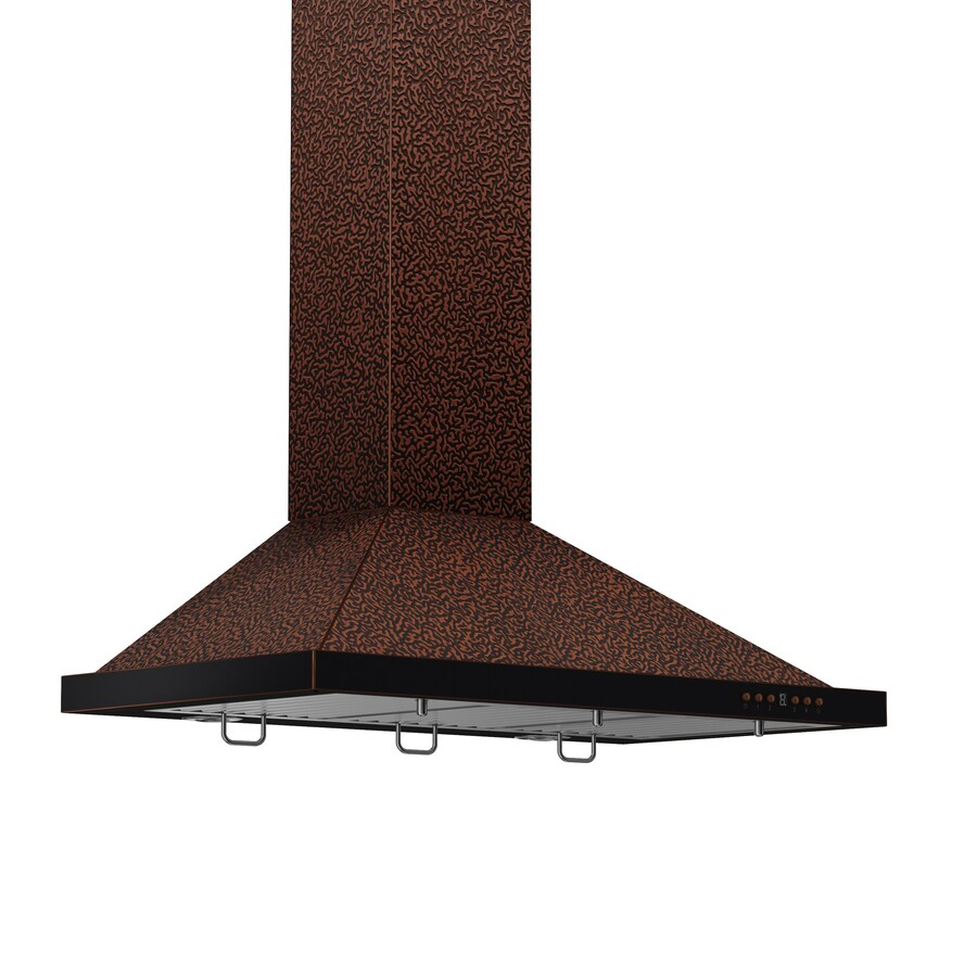 ZLINE KITCHEN & BATH Convertible Wall-Mounted Range Hood (Embossed Copper) (Common: 30-in; Actual: 30-in)