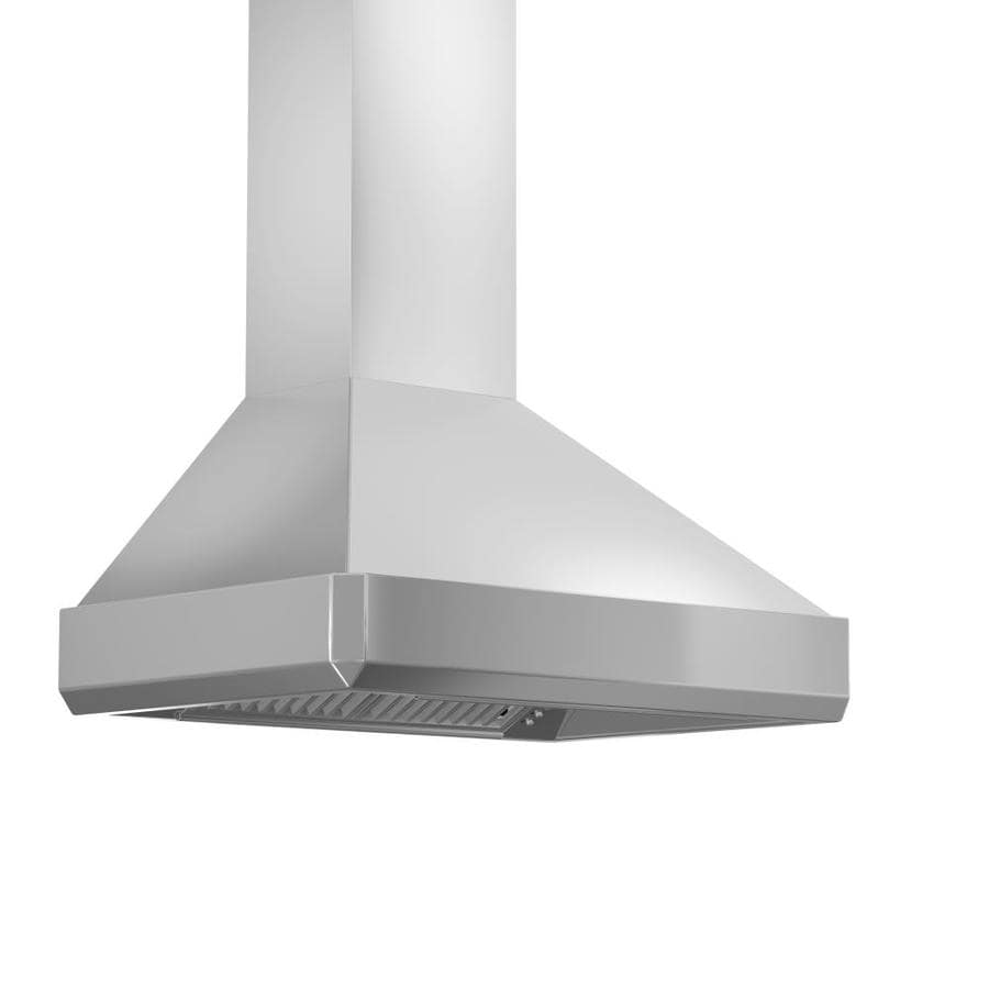 Zline Kitchen Bath Ducted Wall Mounted Range Hood Brushed 430 Stainless Steel