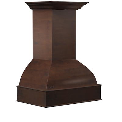 Ducted Wood Wall Mounted Range Hood Common 36 In Actual
