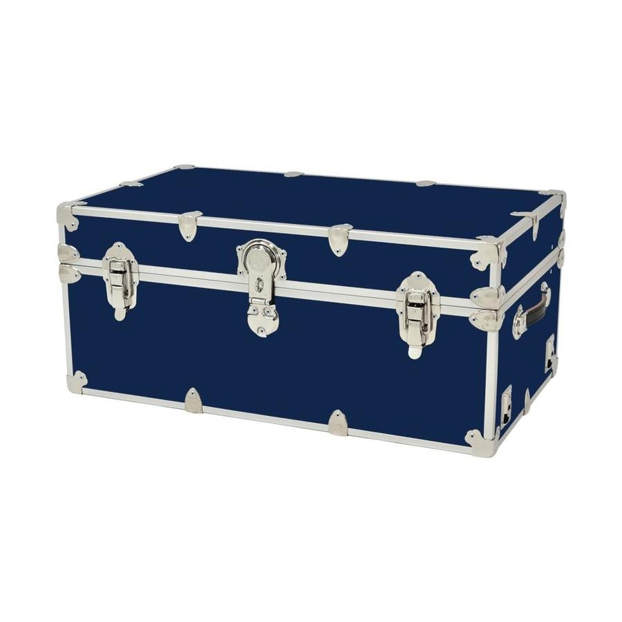 Attrayant Rhino Trunk And Case 31 Gallon Navy Blue Wood Storage Trunk