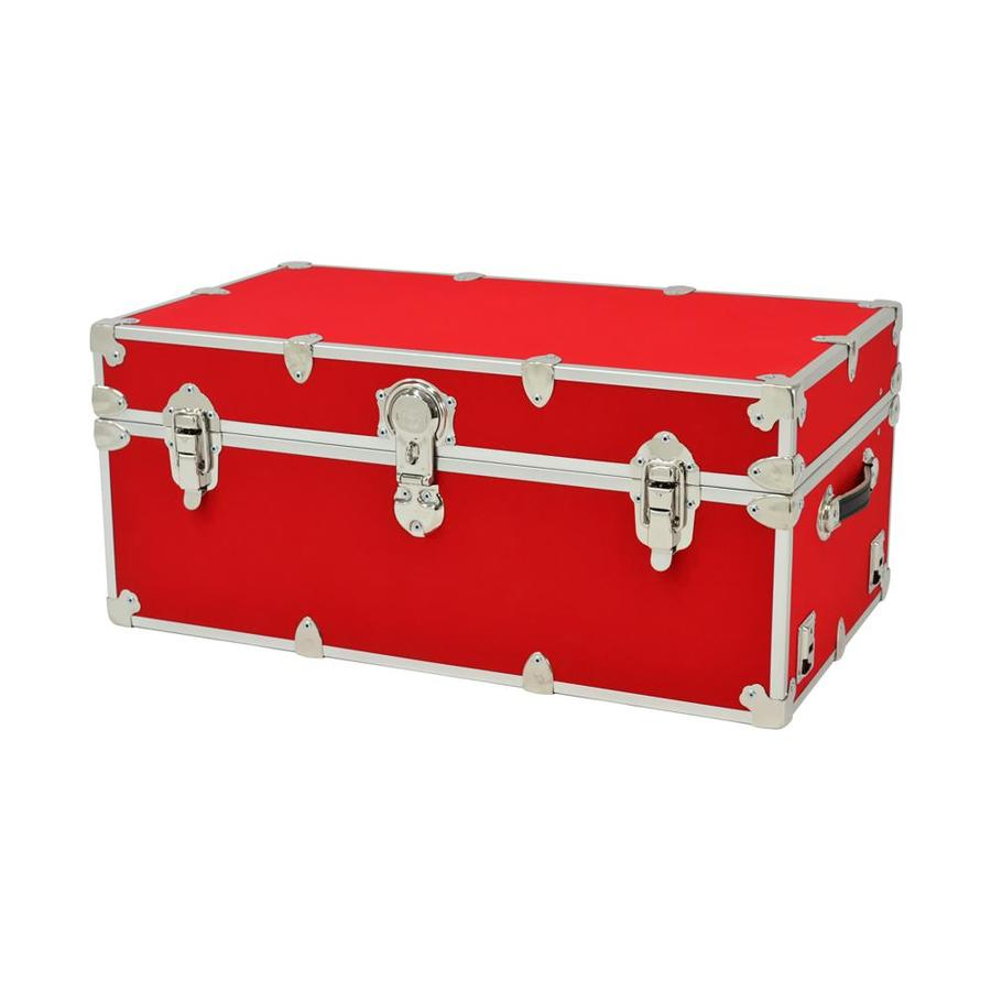 Rhino Trunk and Case 31-Gallon Red Wood Storage Trunk