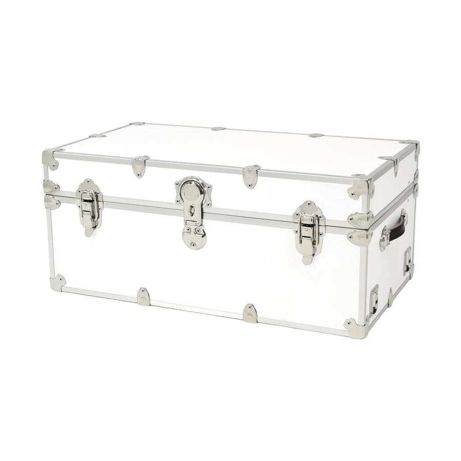Rhino Trunk and Case 31-Gallon White Wood Storage Trunk
