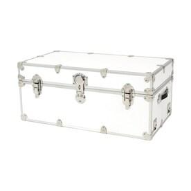 Rhino Trunk And Case 31 Gallon White Wood Storage Trunk