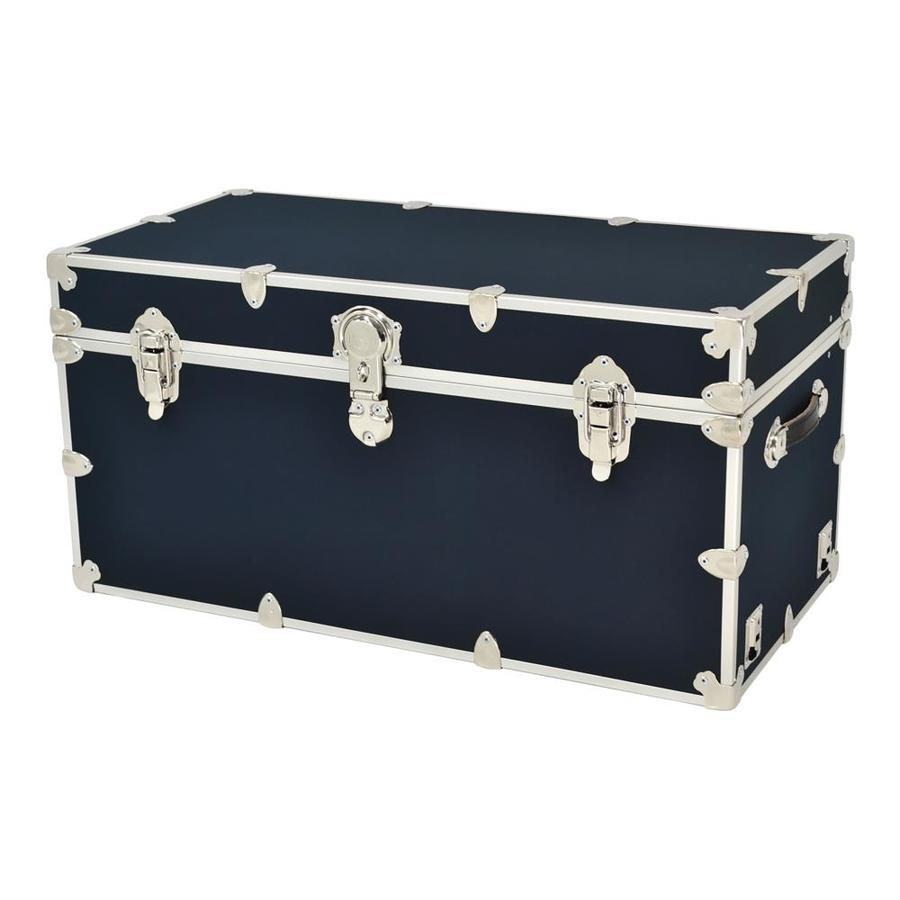 Rhino Trunk and Case 45-Gallon Navy Blue XXL Armor Wood Storage Trunk