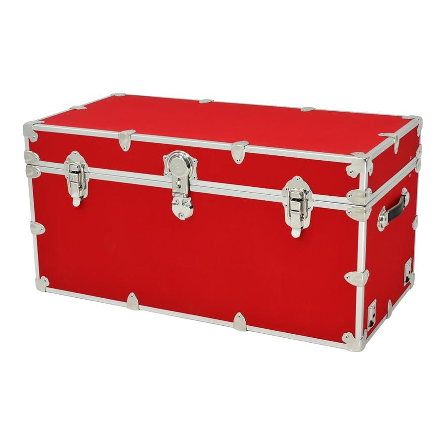 Rhino Trunk and Case 45-Gallon Red XXL Armor Wood Storage Trunk