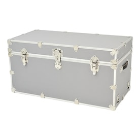 Rhino Trunk And Case 45 Gallon Silver Wood Storage Trunk
