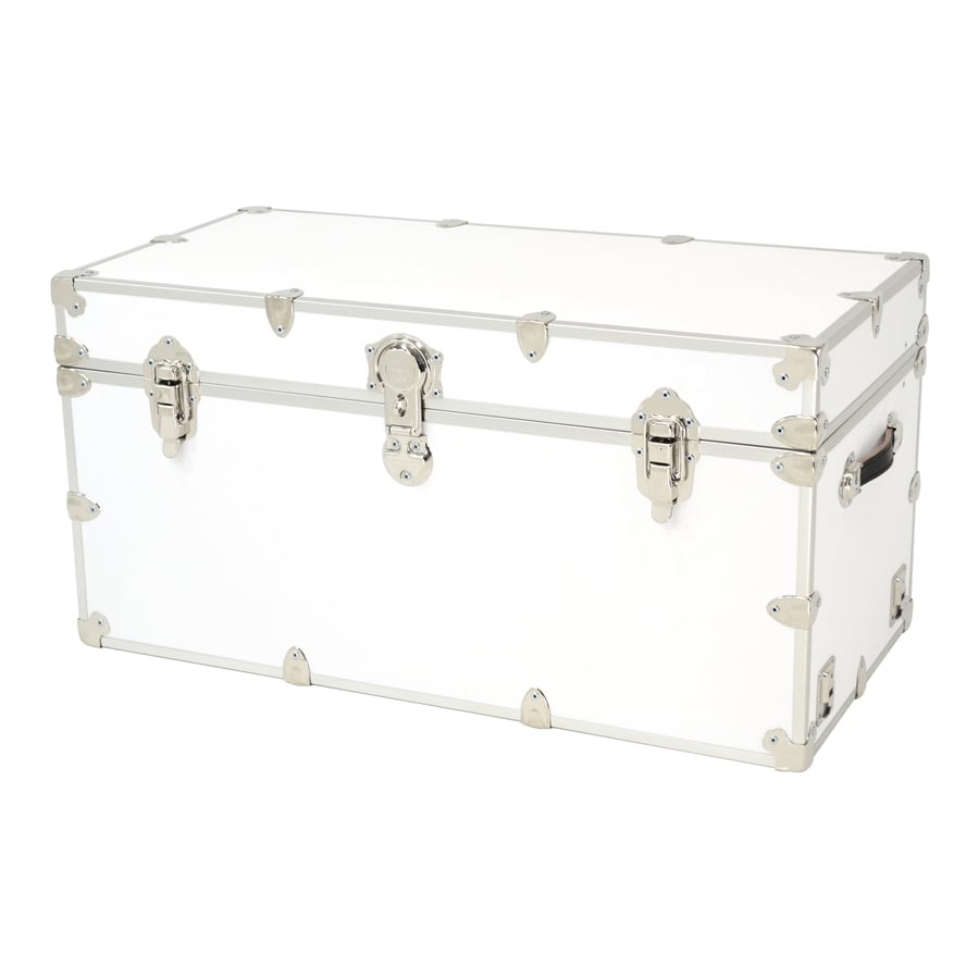 Rhino Trunk And Case 45 Gallon White XXL Armor Wood Storage Trunk