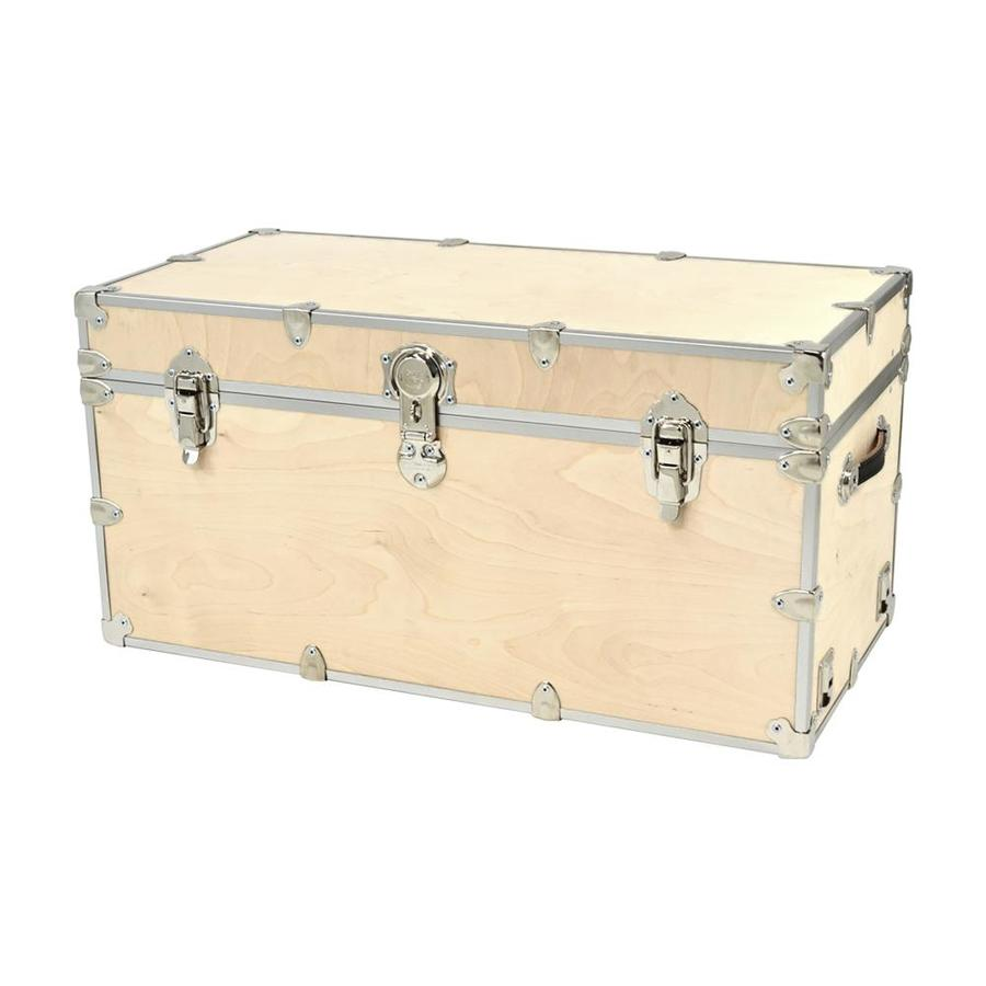 Rhino Trunk and Case 45-Gallon Natural XXL Wood Storage Trunk