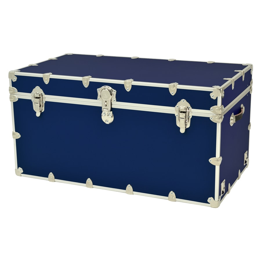 Incroyable Rhino Trunk And Case 69 Gallon Navy Blue Wood Storage Trunk