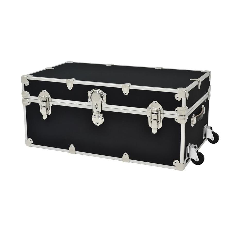Rhino Trunk and Case 31-Gallon Black Wheeled Wood Storage Trunk