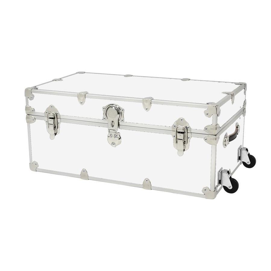 Rhino Trunk and Case 31-Gallon White Wheeled Wood Storage Trunk