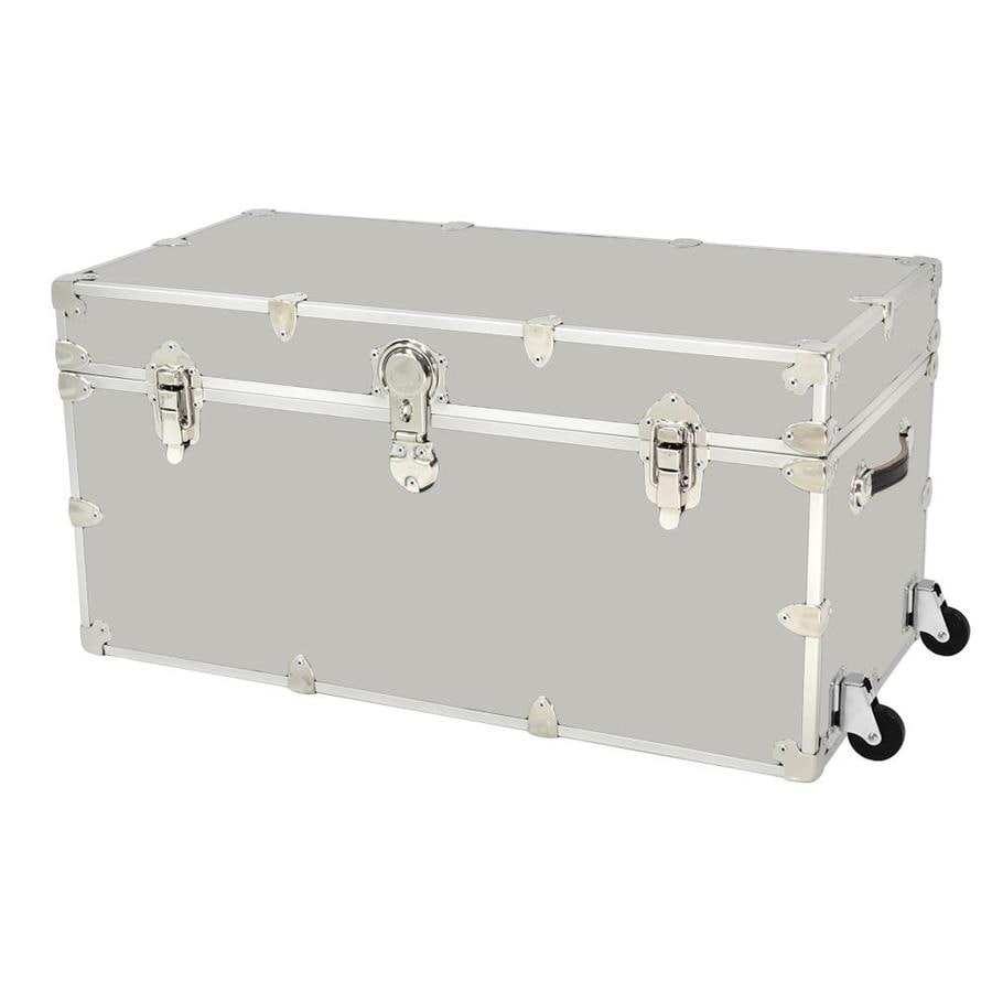 Attrayant Rhino Trunk And Case 45 Gallon Silver Wheeled Wood Storage Trunk