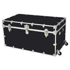 Rhino Trunk And Case 69 Gallon Black Jumbo Armor Wheeled Wood Storage