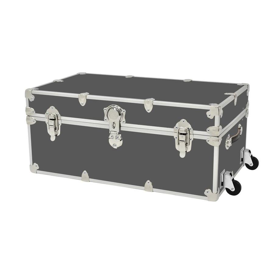Rhino Trunk And Case 31 Gallon Slate Wheeled Wood Storage Trunk