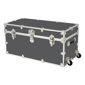 Rhino Trunk And Case 45 Gallon Slate Wheeled Wood Storage Trunk